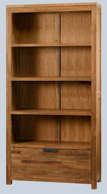 recycled teak bookcase