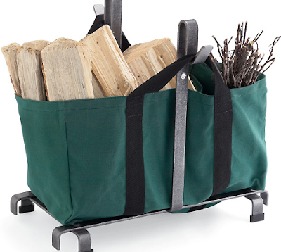 log tote and rack