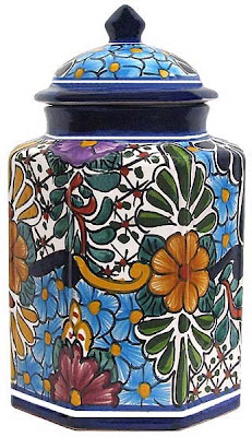 Talavera canister