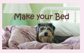 Make Your Bed chore card