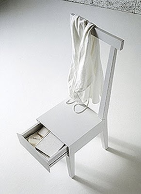 white chair with drawer