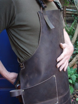 leather work apron