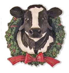 cow in wreath magnet