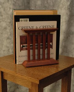 cherry wood bookends