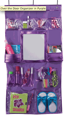 purple over door organizer