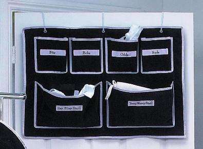 6-pocket over door organizer