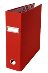 red lever arch binder