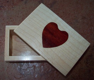 wooden keepsake box with heart