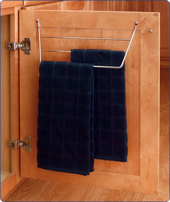 inside the door towel rack
