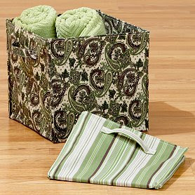 canvas collapsible storage bin 12 inches square