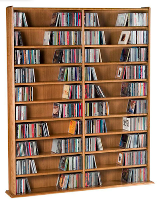 CD wall shelving unit, 1200 CD capacity