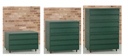 stacking CD cabinets, green