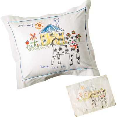 pillow from child's art