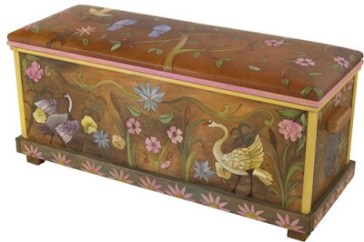 hope chest from Sticks Art, painted