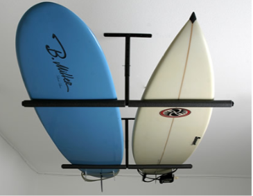 ceiling surfboard rack