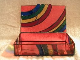 rainbow treasure box, glass