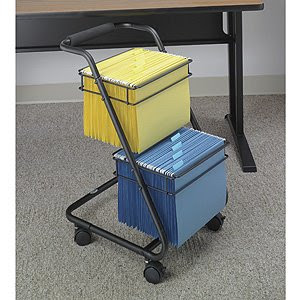 2-tier wire file cart