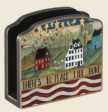 wood napkin holder; says there's no place like home