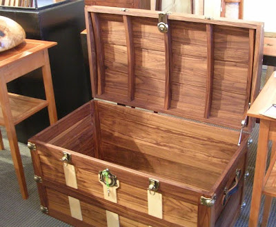 wood trunk or hope chest
