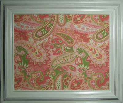 paisley fabric bulletin board