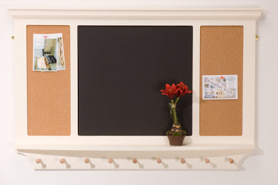 chalk board and cork board combination