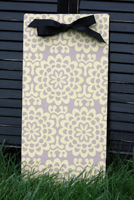 lovely fabric magnetic board