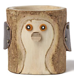 bird pencil cup, wood