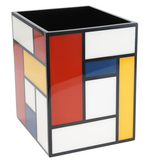Mondrian waste basket