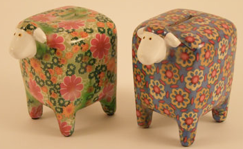 funky sheep money box