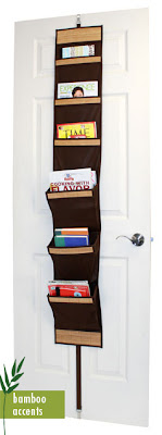 over-the-door magazine rack