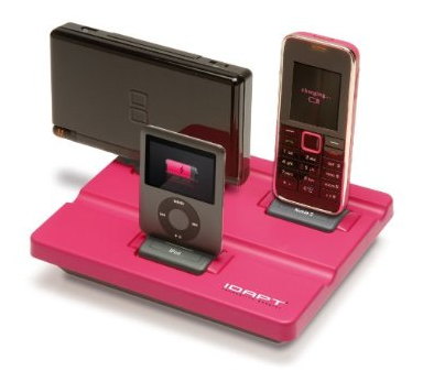 charging station, 3 items, pink