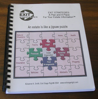 Exit Strategies - A Plan and A Place Your Your Estate Information - book cover