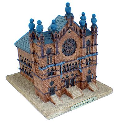 tzedakah box shaped like a synagogue