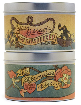 beautiful tea tins