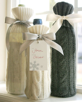 sweater-like wrap for wine bottles