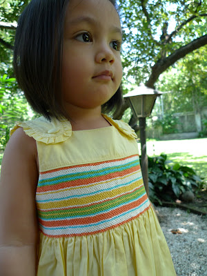 b567ef444930f I remember feeling oh-so pretty wearing my favorite smocked dress when I  was small. Thirty-odd years later, that pale green dress with tiny yellow  flowers ...