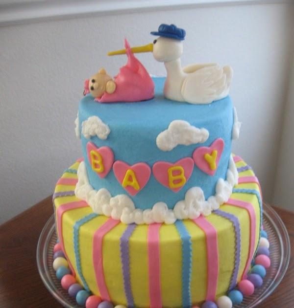 Ms. Cakes: Stork Baby Shower Cake