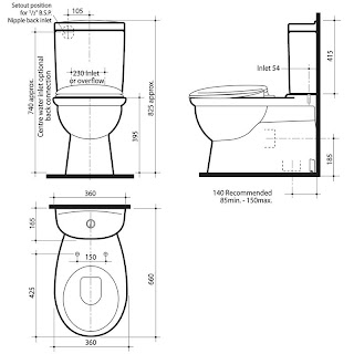 Modecor Toilet Suites: Caroma Harmony Wall Faced Toilet Suite