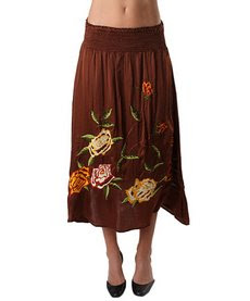 faldas marron