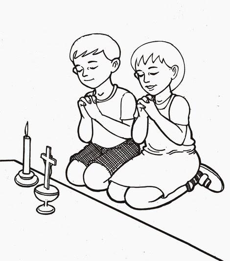 Gambar Anak Berdoa Untuk Diwarnai Gambar Mewarnai Share Tekno Digital