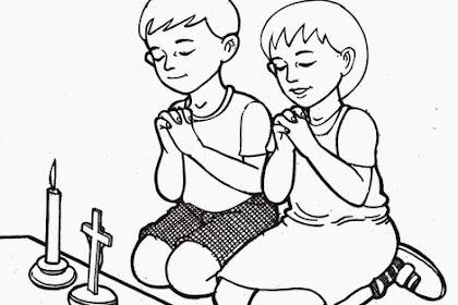 Gambar Mewarnai Anak Kristen