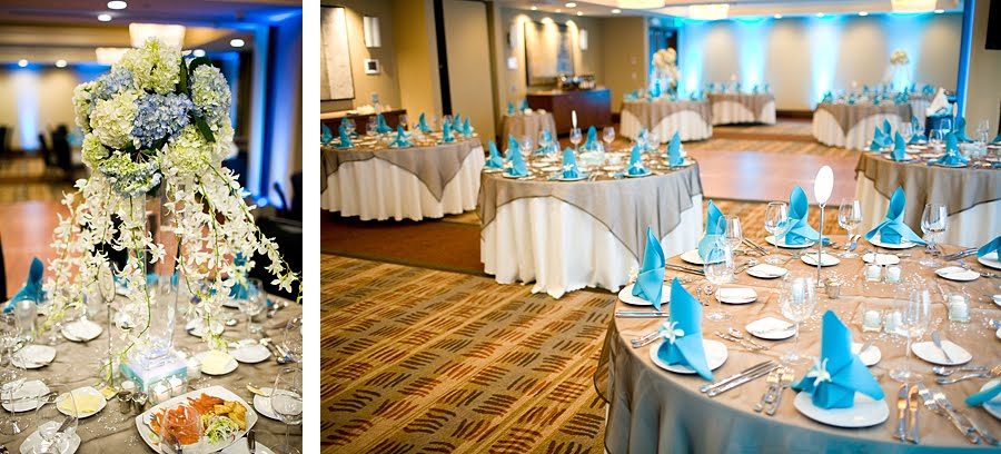 Real Wedding In White And Blue With A Touch Of Bling