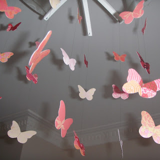 image paper butterfly hanging mobile