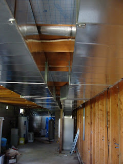 Basement ductwork for geothermal system