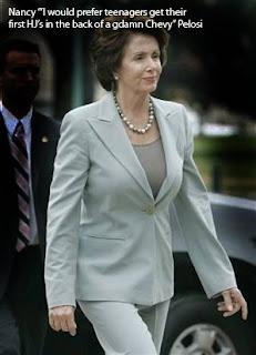 Nancy Pelosi Teenager Ye Filthy Lucre...