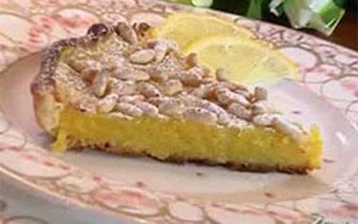 Ricetta Crostata Con Crema Di Limone E Pinoli Ricette Più