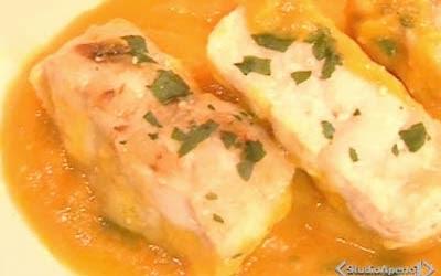 Ricetta cuori di nasello in salsa di carote ricette pi for Cucinare nasello