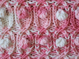 Slip Cross Cable With Bobbles Smariek Knits