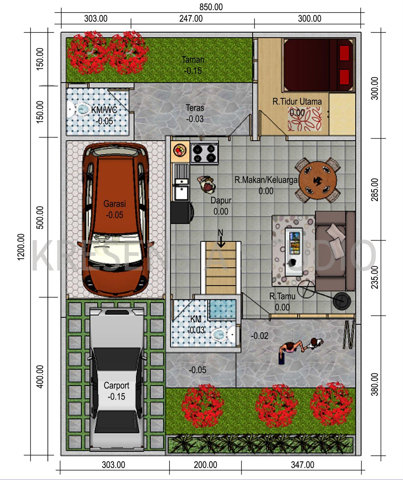 62 Desain Rumah Minimalis Dengan 3 Kamar Tidur