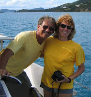 Phil & Laura from charter yacht STORM PETREL Book with Paradise Connections Yacht Charters